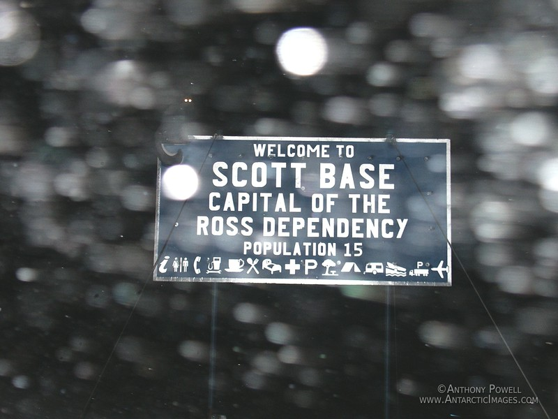 The Scott Base Road Sign, originally built from spare parts in 1999 by carpenter Grant Shadbolt with tongue in cheek, has since become somewhat of a local landmark.