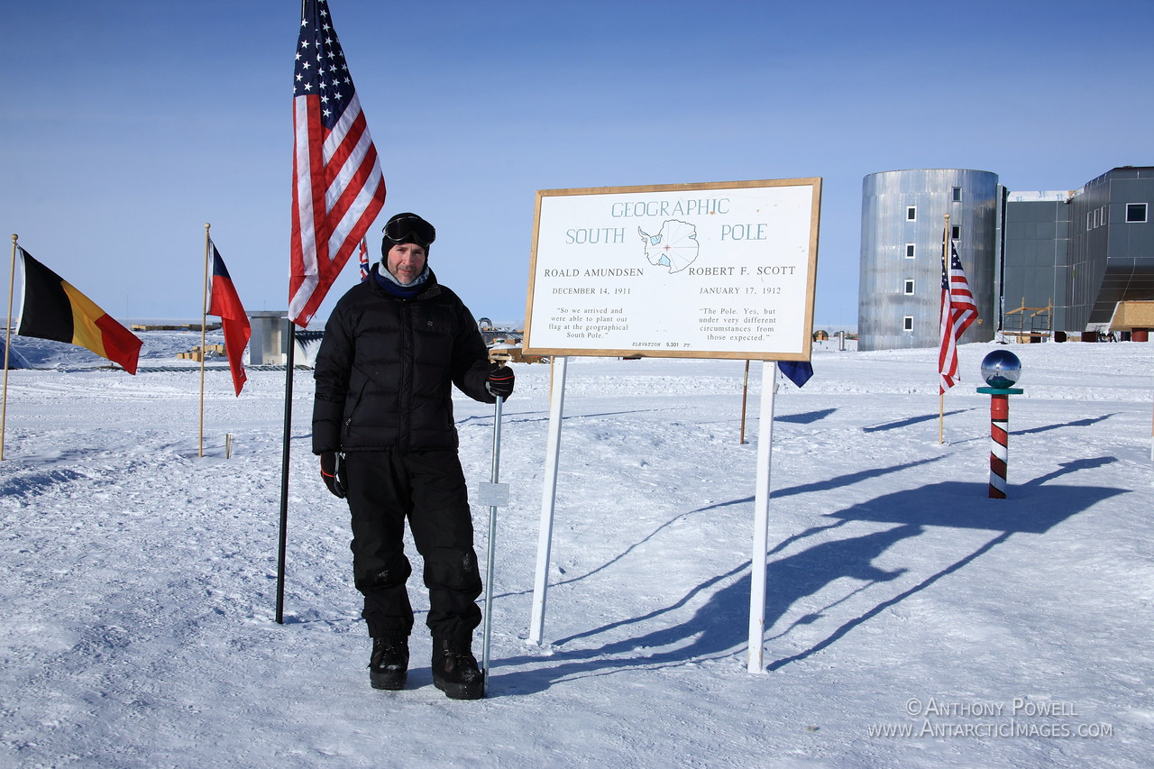 The Marker for the actual Geographic South Pole