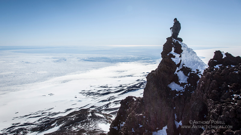 The peak of Mount Terror, Ross Island, Antarctica. Anthony Powell.