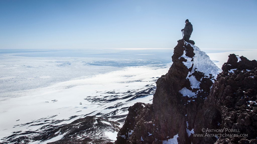 The peak of Mount Terror, Ross Island, Antarctica. Anthony Powell.