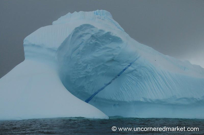Beautiful Iceberg Floating By - Antarctica