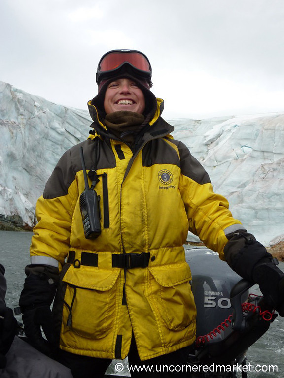 Heidi, Our Mighty Zodiac Driver - Antarctica