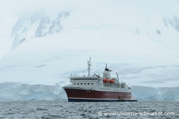 Our Boat Against the Ice - Antarctica