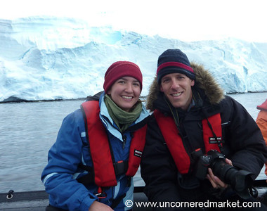 Dan & Audrey Zodiac Cruising - Antarctica