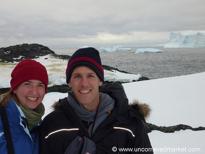Audrey and Dan at Detaille Island - Antarctica