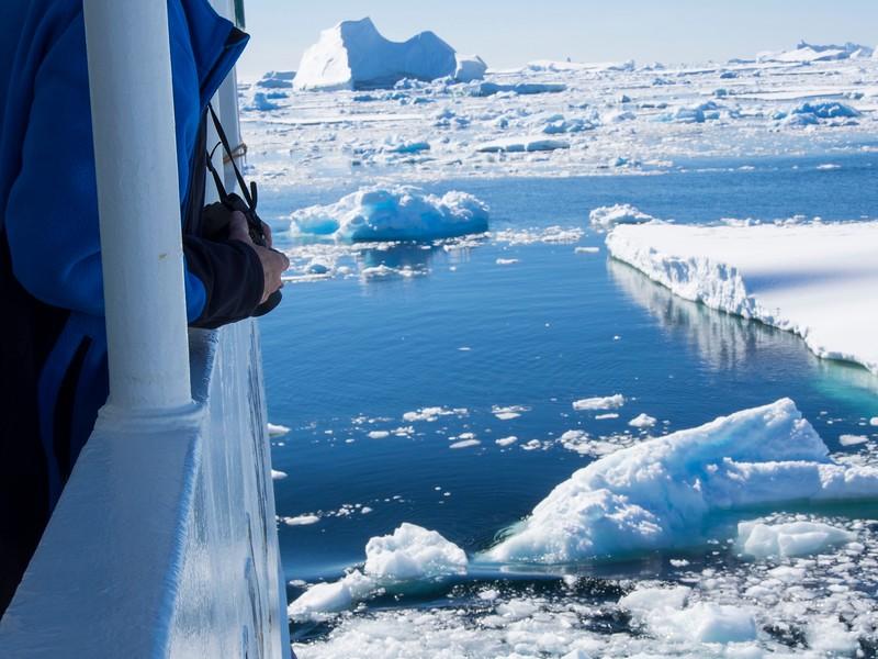 Cruising through the ice