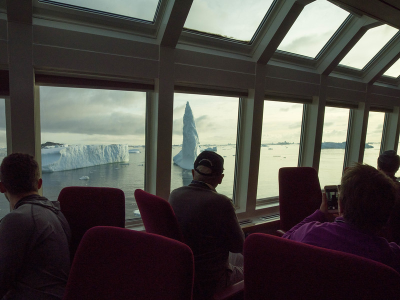 View from inside the ship.