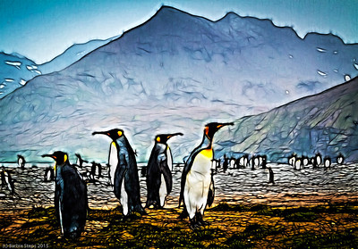 Batik King Penguins