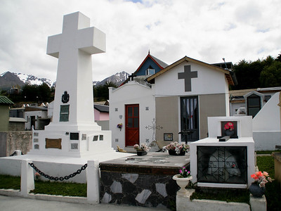 "Ushuaia, Argentina: ""Housing styles in the next life ...""  - we came across ""Cementerio Municipal"" (town cemetery) on our meandering walk from Hotel Los Nires to downtown.  The house-like structures in the back are crypts."