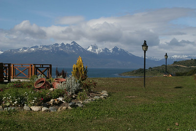 Ushuaia, Argentina: The view from our room at Hotel Los Nires - the Beagle Channel & the Chilean Andes Mountains.