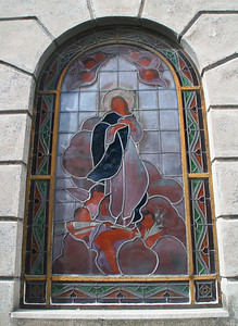 Many of the mausoleums have beautiful stained glass windows.