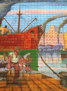 This piece of mosaic art pays homage to La Boca's origin as a port city at the mouth of the Rio de la Plata.