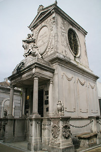 Some of the mausoleums are more elaborate than others.