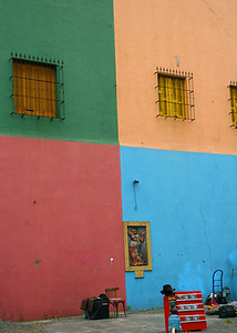 Everywhere we look there is color in La Boca.