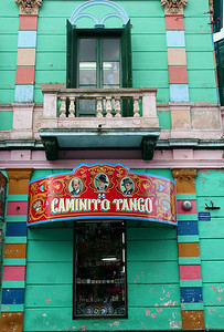 References to the tango abound in La Boca; this is just one of the many signs on Caminito.