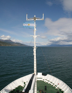 We're heading to the mouth of the Beagle Channel.  From there, we'll be traveling north to the Falkland Islands.
