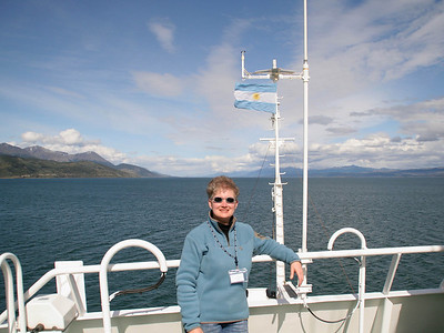 There's only a slight breeze.  It's warm enough that I've shed my jacket as we continue to sail down the Beagle Channel.