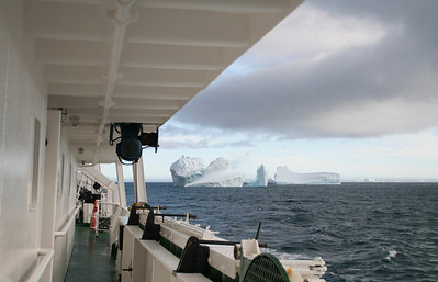 We say farewell to these icebergs, but Robert assures us there will be more to come.