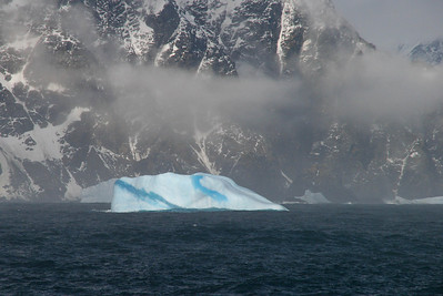 I just love these blue bergs.  The bluer the berg - the older the ice.  The clearer the ice - the more compressed it is.