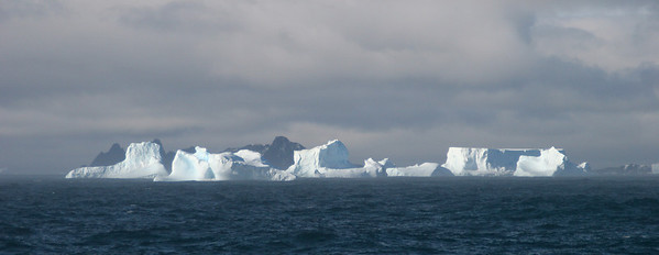 Giant icebergs in the South Orkneys.
