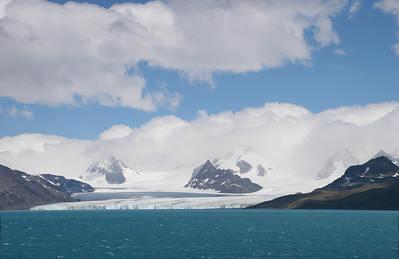 The weather is giving us a break to see Nordenskjöld  Glacier; one of the five biggest glaciers on South Georgia Island.