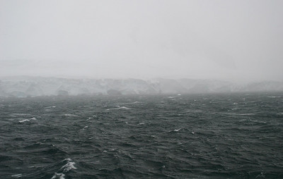 Neumayer Channel shrouded in fog.