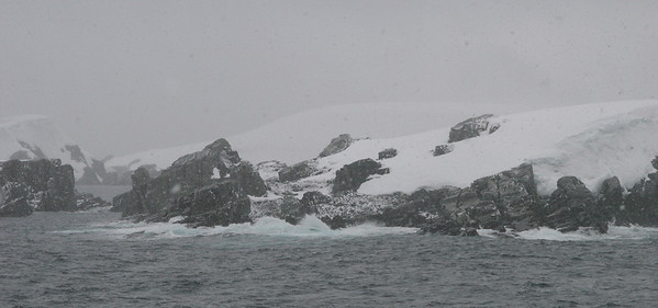 Melchior Islands was supposed to be our last landing in the Antarctic.  Unfortunately, Jonas had to pull the plug.  It's the right decision; conditions are too rough for zodiac operations.