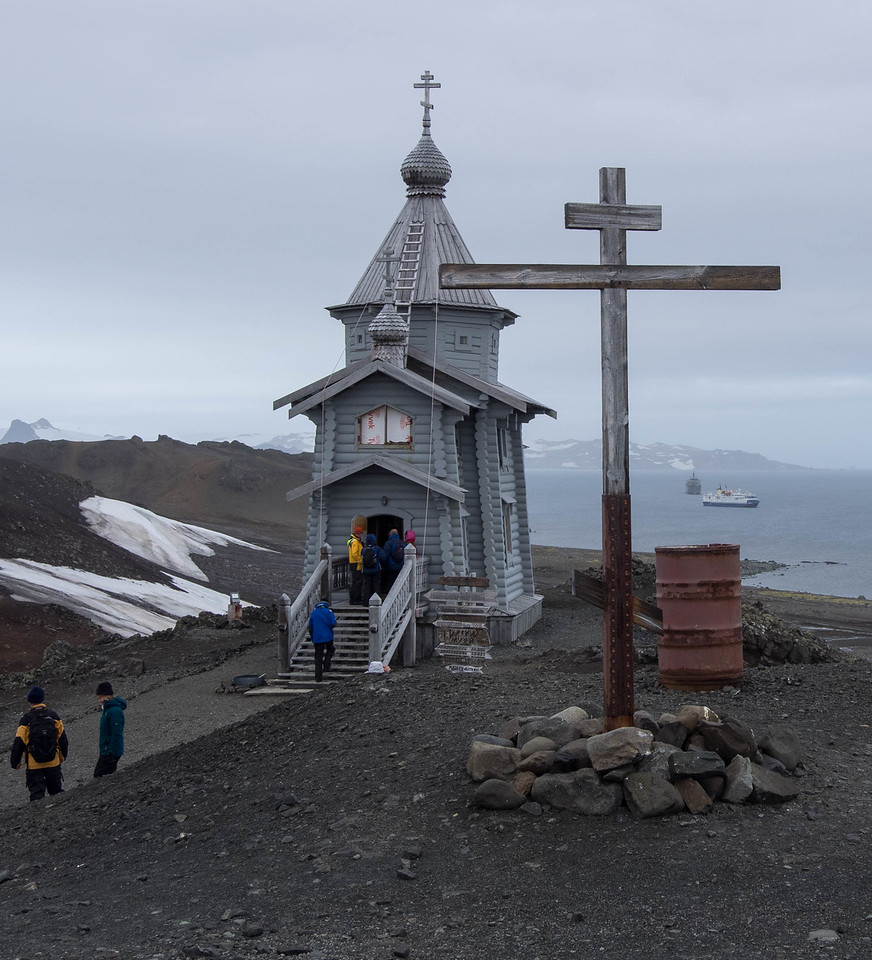 "The Russian Orthodox church is the only stationary church in Antarctica.<br /> Article about the priest.  <a href=""http://newsok.com/article/5399083"">http://newsok.com/article/5399083</a>"