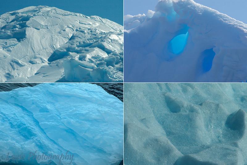 Iceberg textures, Melchior Islands, Antarctica