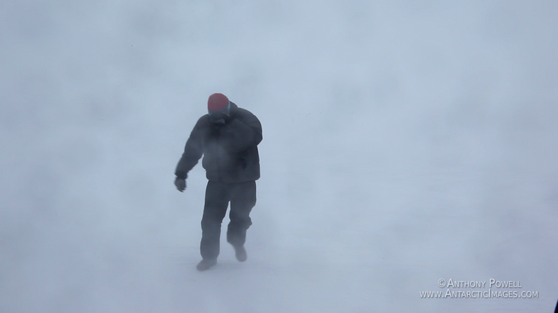 Stormy weather, whiteout conditions. In more extreme conditions you cannot even see your hand at the end of your arm.