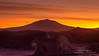 Mount Erebus in August about 1 week before the sun rises again at the end of the Antarctic Winter