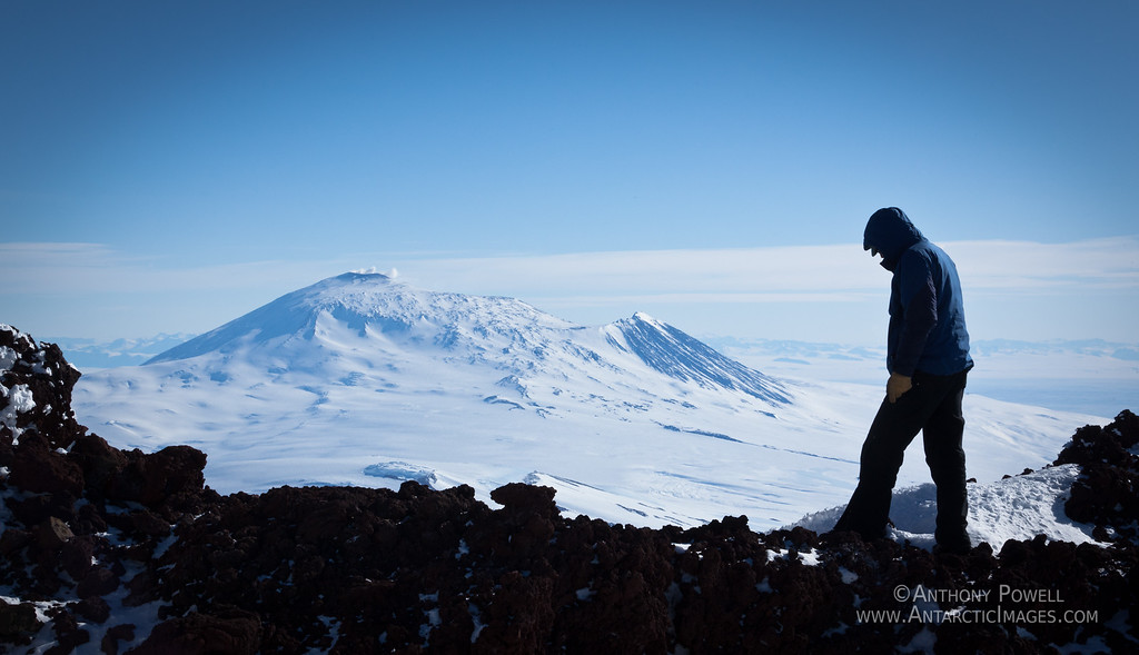 Mount Erebus, as seen from Mount Terror.