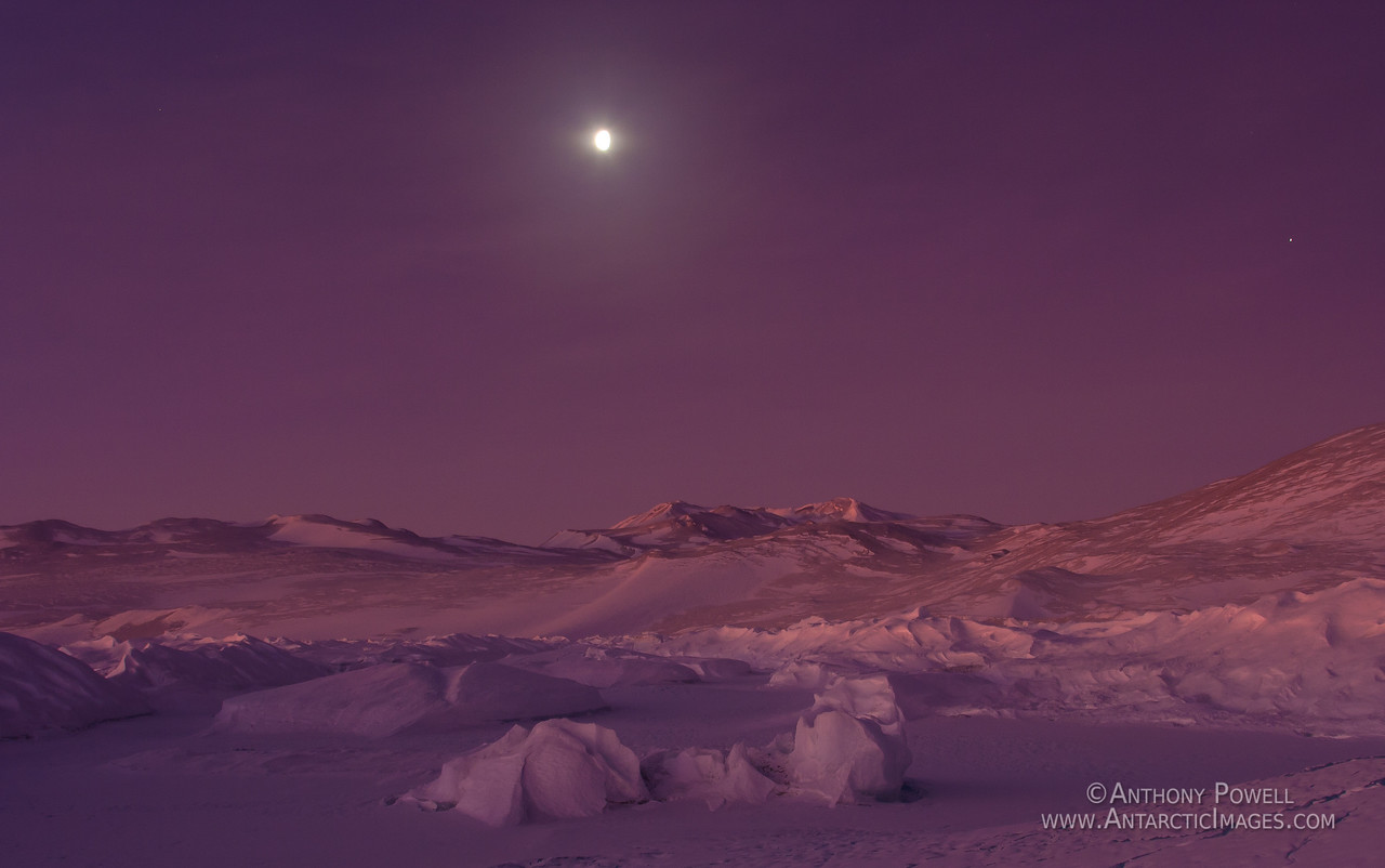 Moonlight Landscape, Black Island, Antarctica.