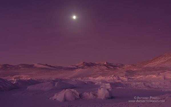 Moonlight Landscape, Black Island, Antarctica.