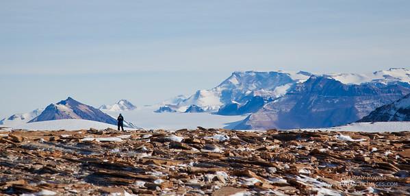 On top of Mount Coates, Antarctica