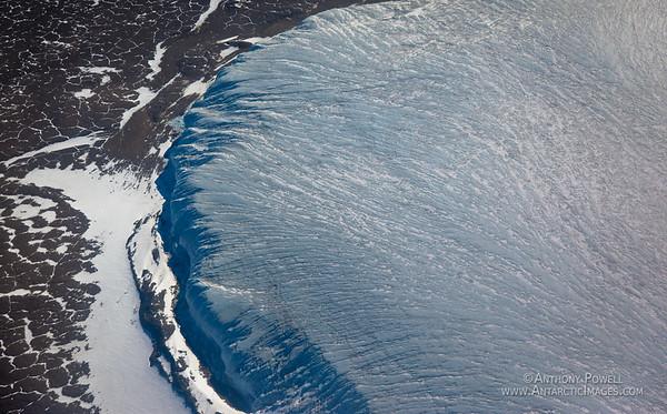 Howard Glacier flowing into the Taylor Valley, Dry Valleys, Antarctica.