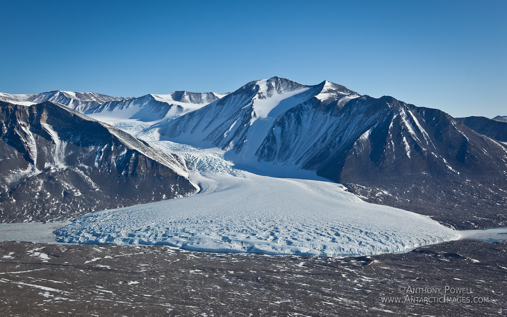 Canada Glacier flowing into the Taylor Valley, Dry Valleys, Antarctica.