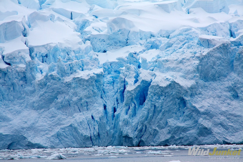 One of the glaciers that fall off the edge of the Antarctic continent