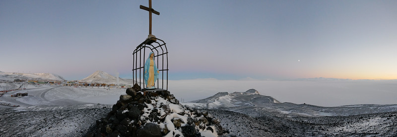 Our Lady of the Snows, the memorial on Hut Point Ridge to the north of McMurdo Station