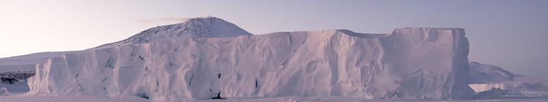Tabular Iceberg Cape Evans Pano