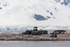 The Chilean Gonzalez Videla scientific research station in Paradise Bay, Antarctica.