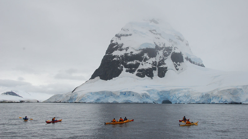 Kayakers in the Peltier