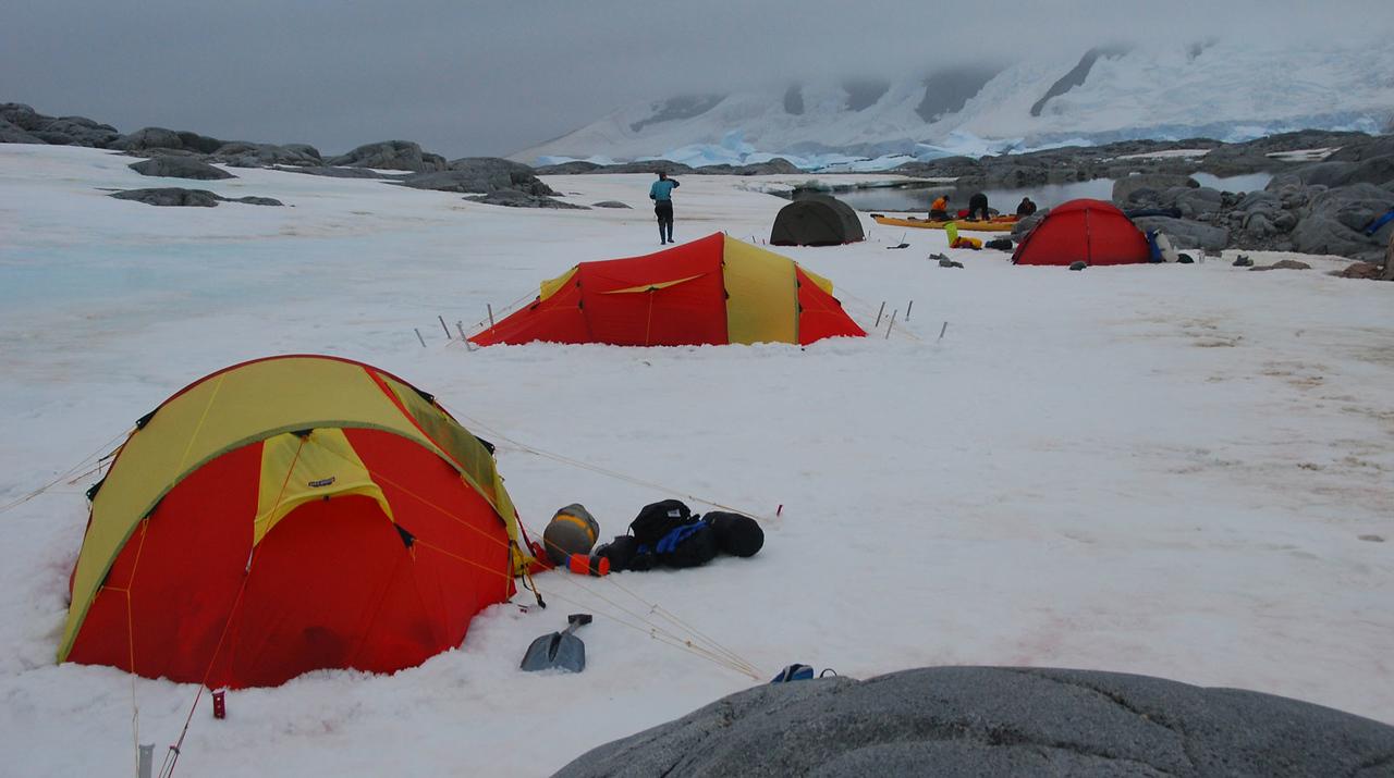 Camp North of Hovgaard Island