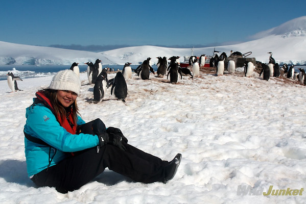adventure travel blogger in Antarctica