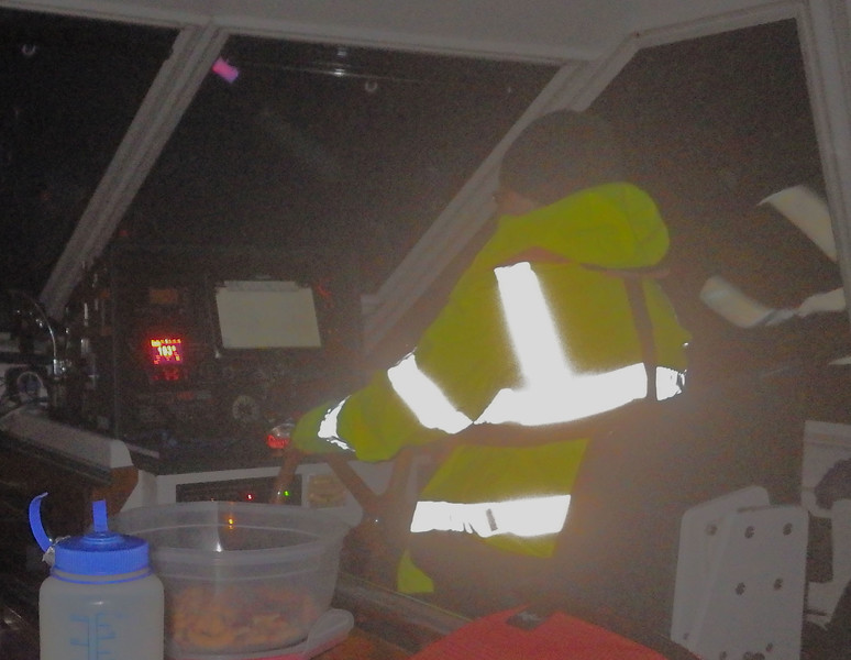 Ann at the Helm at Night