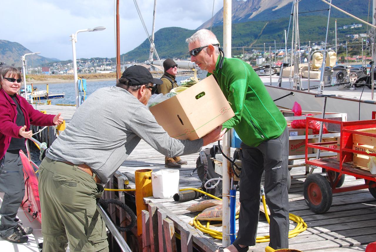 Loading Supplies on Icebird