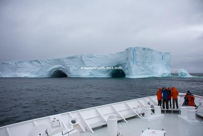 Iceberg in Antarctica Ocean.  Big ioceberg.