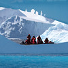 Icebergs off Pleneau Island with tourists!