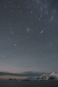 Star Trails over Adelaide Island