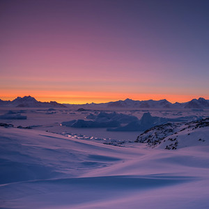 Dawn over the Antarctic Peninsula